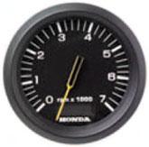 Аналогов оборотомер с брояч на часовете – Черен